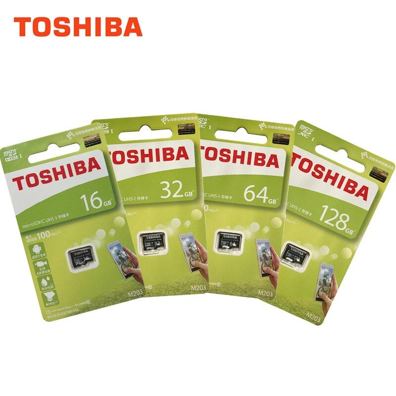 5 pièces Toshiba M203 128 GB Micro SD C10 4 K U1 100 MB/s Carte Mémoire SDXC Classe 10 UHS-I 16 GB 32 GB 64 GB 128 GB MicroSDHC FullHD TF Carte