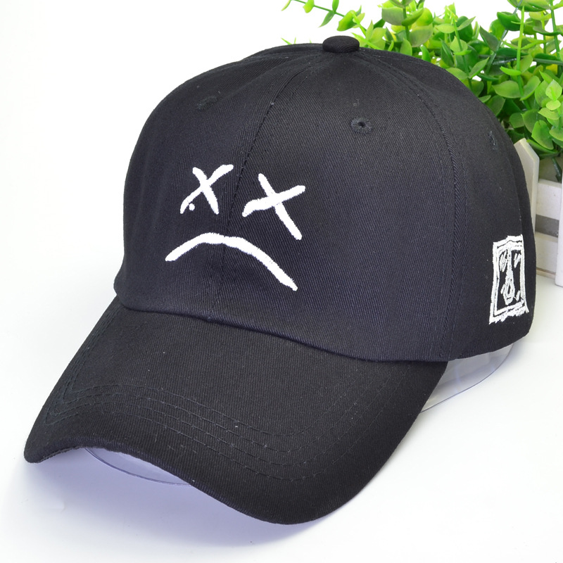 Peep Dad Hat Embroidery 100% Cotton   Baseball     Cap   Sad Face Hat Xxxtentacion Hip Hop   Cap   Golf Love Lil.peep Snapback Women Men