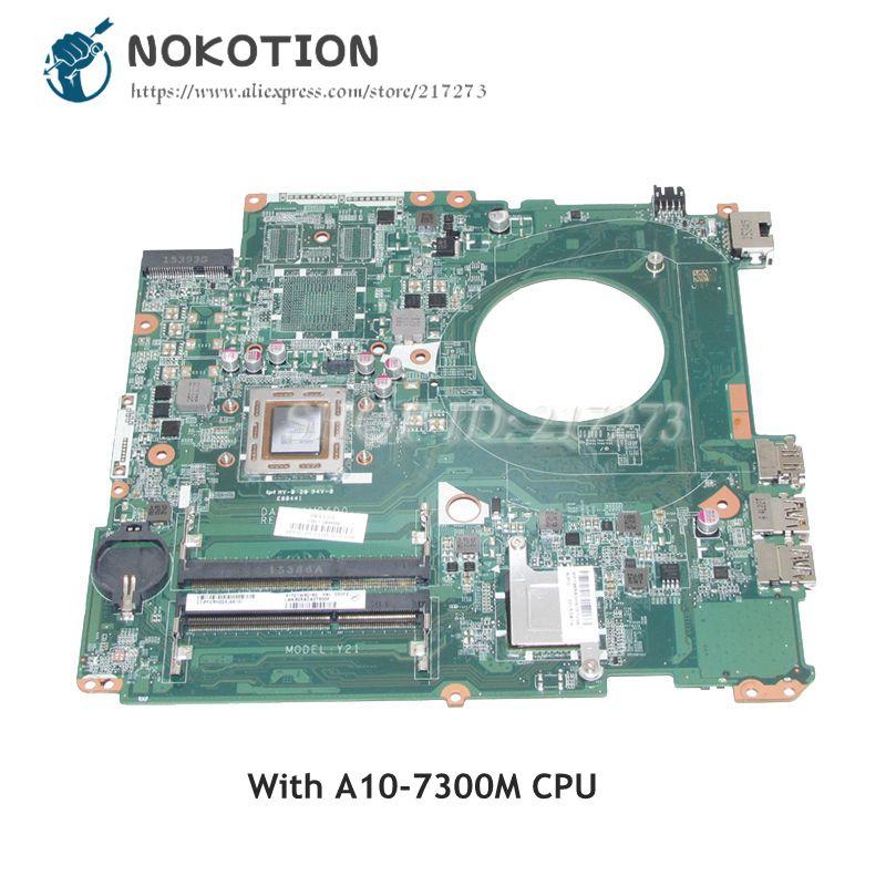 NOKOTION For HP Pavilion 17-P 17Z-P Laptop Motherboard DAY21AMB6D0 809985-601 809985-001 MAIN BOARD A10-7300M CPU DDR3NOKOTION For HP Pavilion 17-P 17Z-P Laptop Motherboard DAY21AMB6D0 809985-601 809985-001 MAIN BOARD A10-7300M CPU DDR3