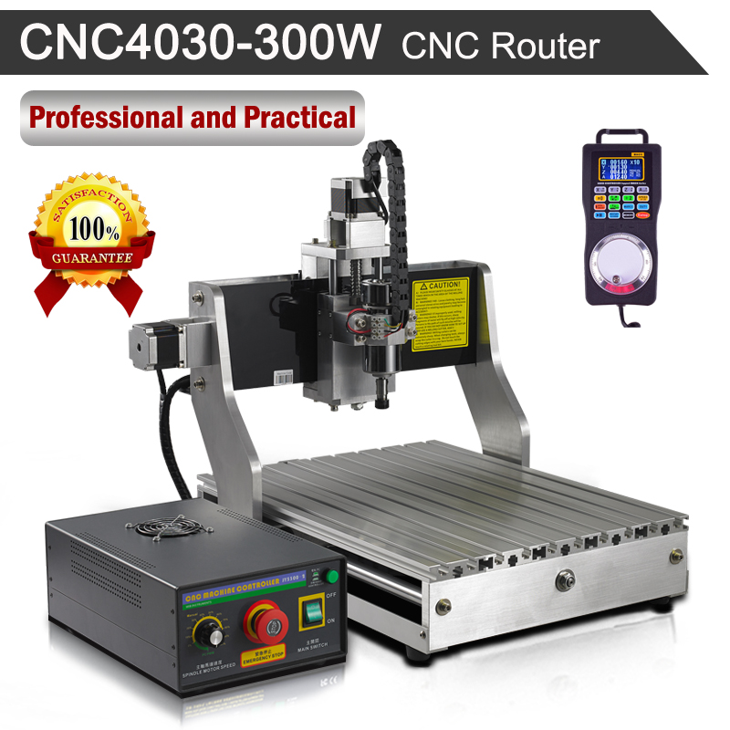CNC Router 4030 300W 110V/220V Engraving Milling Machine eur free tax cnc 6040z frame of engraving and milling machine for diy cnc router