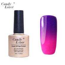 Candy Lover HOT 1 PCS Temperature Change Nail Color UV Gel Polish Nail Gel for Nail soak off gel polish 10ml