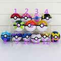 5pcs/lot Poke Ball Ash Pikachu Pokeball Super Master Great Ash Ball PVC Action Balls Toys 7cm 13styles you can choose