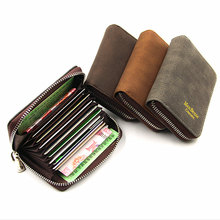 Rfid PU leather zipper New Arrival men women wallet matte vintage short small coin purse 2019 fashion Multi credit card holder цена в Москве и Питере