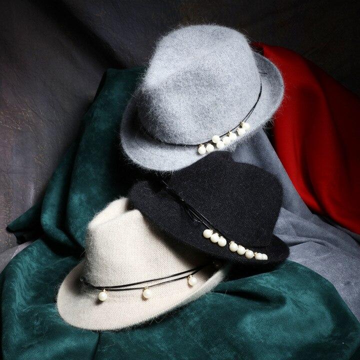 Nouveau tricot Sud-Coréen lapin jazz chapeau enfants rétro couleur perle petite Coréenne chapeau Soleil Voyage
