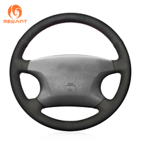 MEWANT Black Suede Car Steering Wheel Cover for Toyota Avalon 2002 2004 Camry 2002 2004 Highlander 2001 2003