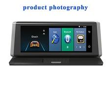 BINYEAE двойной приборной панели камера рекордер с сенсорным экраном спереди заднего вида HD Обратный монитор автомобиля Автоматизация центр управления системы