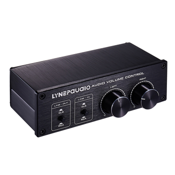Hi-Fi 2 In put 2-Output Analog Audio Switcher Box XLR /RCA with Volume Control Passive Preamp