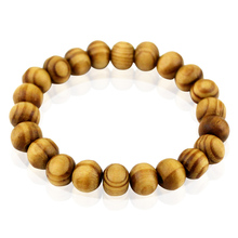8mm Natural Wooden Bracelets Buddhist Prayerartificial Elastic Rope Wristband Trendy Jewelry Men Women Unisex Gift Drop Shipping