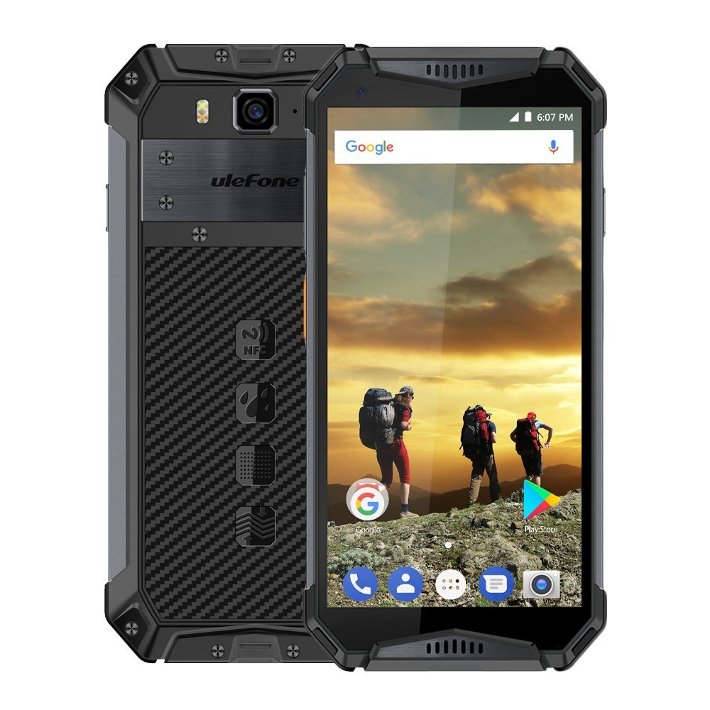 Téléphone portable étanche Ulefone Armor 3 IP68 MT6763T Oreo Helio P23 4 GB + 64 GB Android 8.1 5.7
