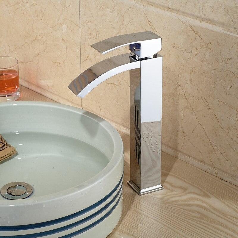 Aliexpress.com : Buy Bright Chrome Waterfall Bathroom Vanity Basin ...