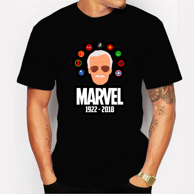 dff53b6939a9 Μπλούζες   μπλουζάκια Stan Lee T Shirt men fashion Avengers Spiderman  Unisex Adult Tee Tops Marvel t-shirt Commemorate My Hero Stan Lee funny T  Shirts
