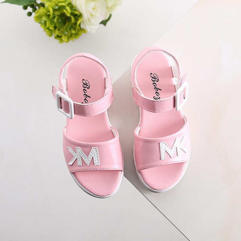 HaoChengJiaDe Children Sandals Shoes Causal Flat With Girls Sandals Summer Soft Bottom Children Girls School Shoes For 4-12 Year