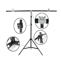 Photo Studio Background Type T 100*200cm Aluminum Background Frame Backdrop Support with 3 Clamps