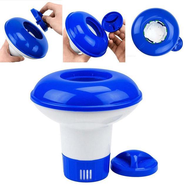 5 인치/8 인치 수영장 플로팅 애플리케이터 플로팅 염소 디스펜서 청소 고품질 재료 무독성 안전