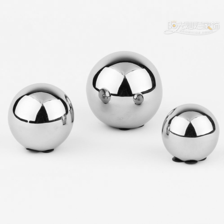 Vase Accessories Brief Modern Home Decoration Crafts Ceramic Fashion Inspiration Silver Balls Decor