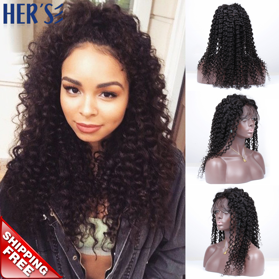 Glueless Full Lace Wigs Human Hair Lace Front Wigs Black