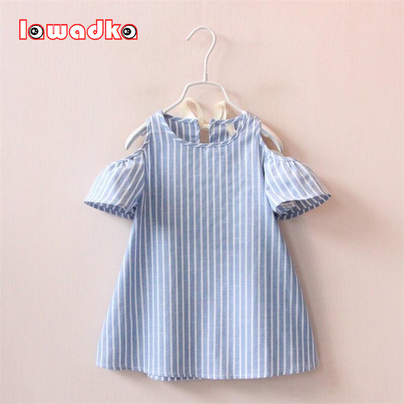 Summer Girl Dress Striped Kids Dresses For Girls Party Princess Children Vestidos Birthday Party Gown new summer pink children dresses for girls kids formal wear princess dress for baby girl 3 8 year birthday party dress