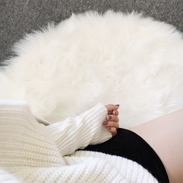 Hairy Carpet Sheepskin Chair Cover Soft Bedroom Faux Mat Seat Pad Long Fur  Fluffy Area Rugs