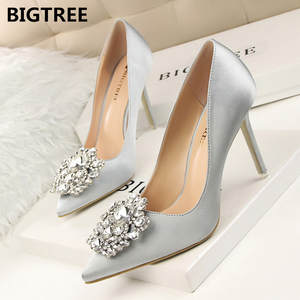 6bb9a57e91ff BIGTREE Women Pumps High Heels Sexy Pointed Single Shoes