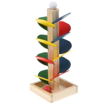 DIY drewniane drzewo utwór zestawy do budowania-kulki Run gra klocki Puzzle dla dzieci gra wyścigowa dla dzieci tanie i dobre opinie Drewna None 5-7 lat