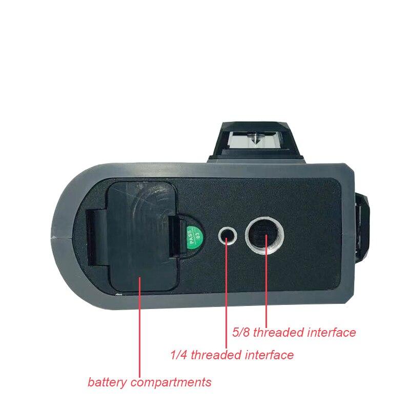 XEAST 12 linien XE-81R lithium-batteryr Rot laser ebene 360 Vertikale Und Horizontale Selbst nivellierung Kreuz Linie 3D Laser ebene