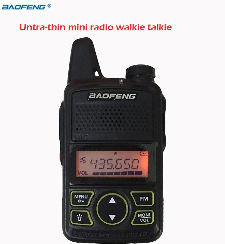 bilder für New BAOFENG headset Walkie Talkie handliche BF-T1 Mit UHF 400-470 mhz Micro-usb-ladegerät Sprech Portatil Radio Fm Cb Transceiver