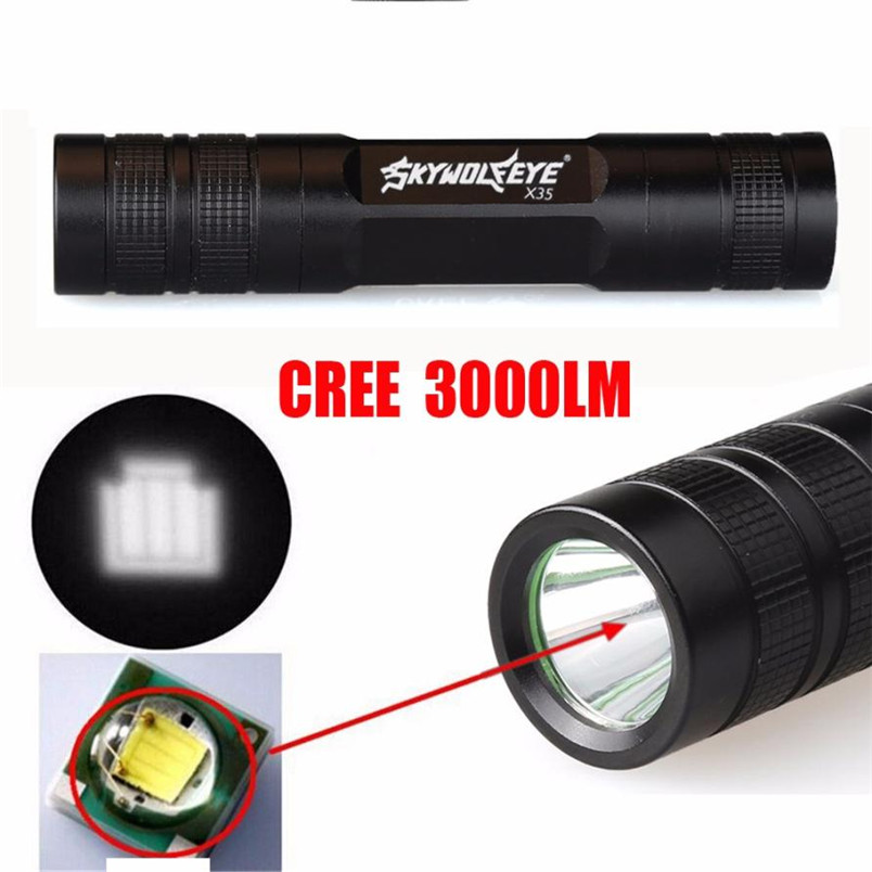 2017 Mini 3000 Lumen 3 Modes CREE Q5 LED 18650 Led Flashlight Torch Lamp Light Camping Wholesales NOM12