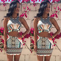 Hot Selling 2 Piece Set Women Sexy Bodycon Crop Top and Skirt Set Club Wear Party Clothes Sets Woman