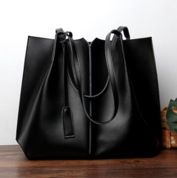 Big Size Bag Genuine Leather Tote Women Handbag Vintage Color Easy Matching Girl Single Shoulder Bag Hot Selll C501