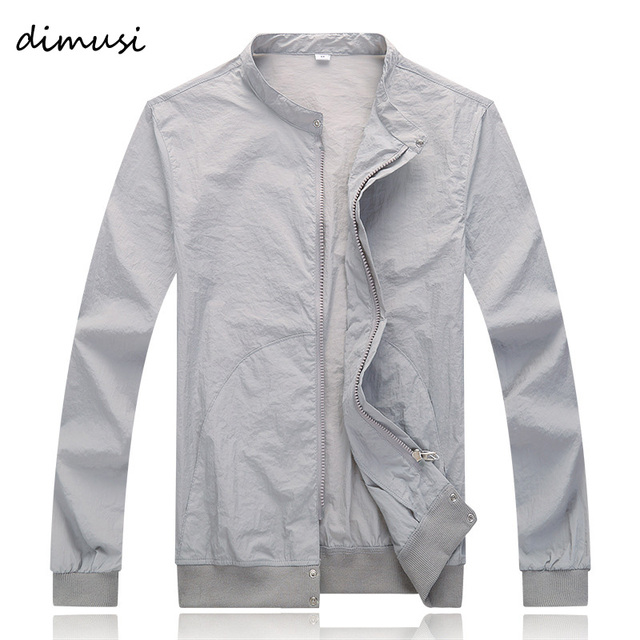 DIMUSI Summer Quick Dry Men Windbreaker Skin Coat Sunscreen Waterproof UV Mens Army Outwear Ultralight Windbreake Jacket ,YA624