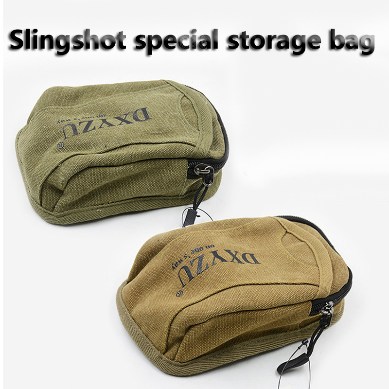 1pcs Slingshot Fine Material Canvas Bags Balls Bag Case Pouch Holster Sling Shot Hunting Sports Slingshot Accessories