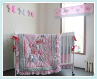 3D бабочка шт. 6 шт. аппликация с вышивкой для детской кроватки Постельное белье детские