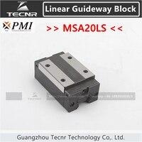 Taiwan PMI linear guideway slide carriage block MSA20LS slider for CO2 laser machine