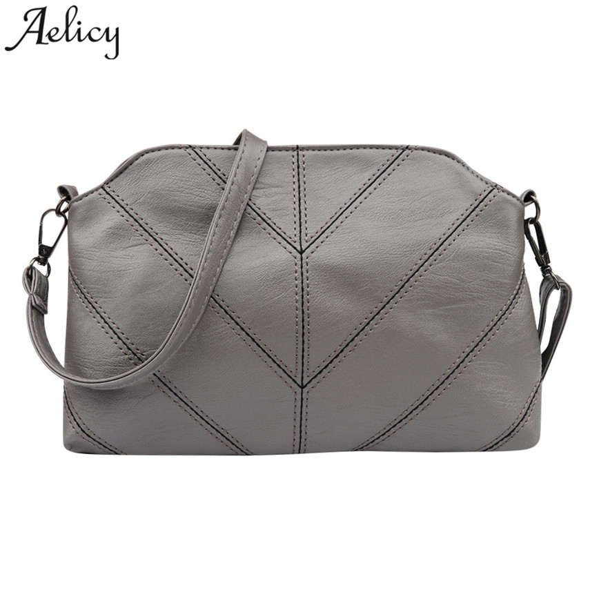 Aelicy Women Shoulder Bags Vintage Plaid Flap Soft Leather Crossbody Bag Ladies Designer High Quality Messager Bags S30