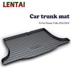 LENTAI 1 шт. задний багажник грузов коврик для Nissan Tiida 2016 2017 2018 автомобиль-Стайлинг Boot ЛАЙНЕР лоток Водонепроницаемый анти -коврик аксессуары