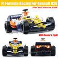 Для Renault R28 F1 Formula Racing 1:32 Масштаб Литья Под Давлением Сплава металл Модель Автомобиля Коллекция Модель Pull Back Toys Автомобиля С звук и Свет
