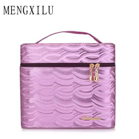 MENGXILU New Arrival Large Multi Storey Professional Make Up Package Bag Nail Pattern Semi Permanent Tool