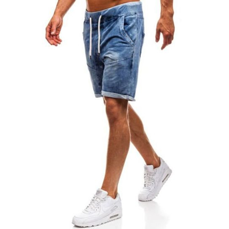 a5b9732ca7a9 2019 New Summer Ripped Mens Denim Shorts Slim Regular Knee Length Short  Hole Jeans Shorts For Male Jeans - AliExpress