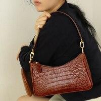 Female It Bag Fashionable Underarm Bag Retro Crocodile Pattern Handbags Europe and America 2019 New Hand Bag Shoulder Bag By Fa