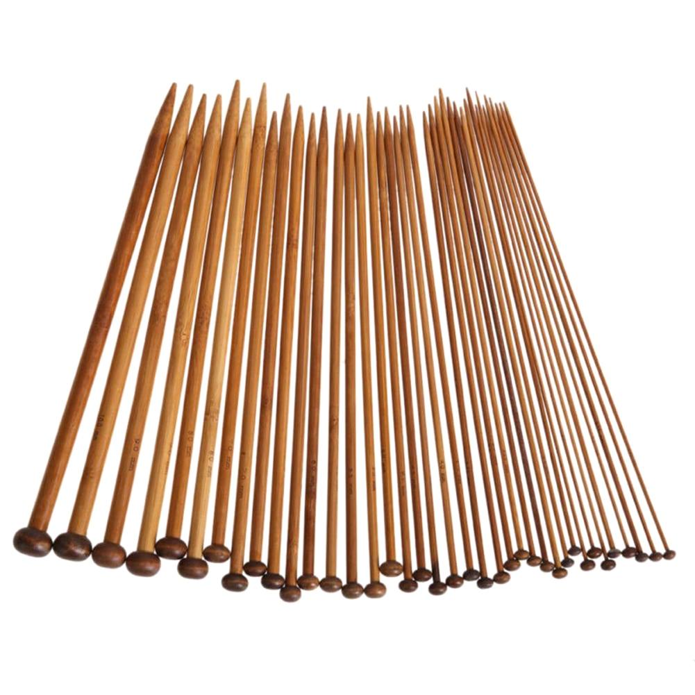 Cerca Voli 36 Pcs 18 Dimensioni A Punta Singola Carbonizzato Di Bambù Ferri Da Maglia Craft Crochet Kit Di Strumenti Tb Vendita
