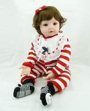 55 cm Alto-final fantasy silicona renacer baby dolls chica brinquedos juguete de la educación temprana del niño princesa kawaii muñeca de vinilo