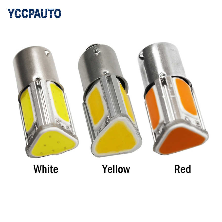 1Pcs 1156 Led Lights P21W BA15S 4 Cob Car Turn Signal Lights Auto Parking Backup Reverse Tail Light Bulb 12v Red White Amber