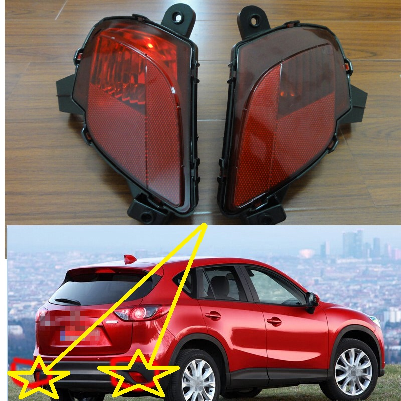 2 Pcs/Pair RH and LH Tail rear fog lamps rear bumper fog lights for Mazda CX-5 2013-2015 rear bumper light fog lamp for mazda cx 5 left and right top quality
