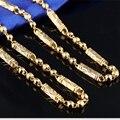 Hip hop cadeias choker colar para homens jóias ouro amarelo cromado rocha masculino colar declaração de jóias de 20 polegadas/24 polegadas
