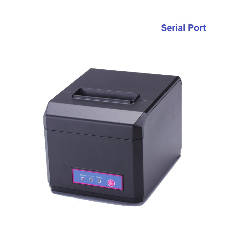 Pos 80mm thermal receipt printer with auto cutter serial port quality kichen bill printing machine high speed also support 58mm