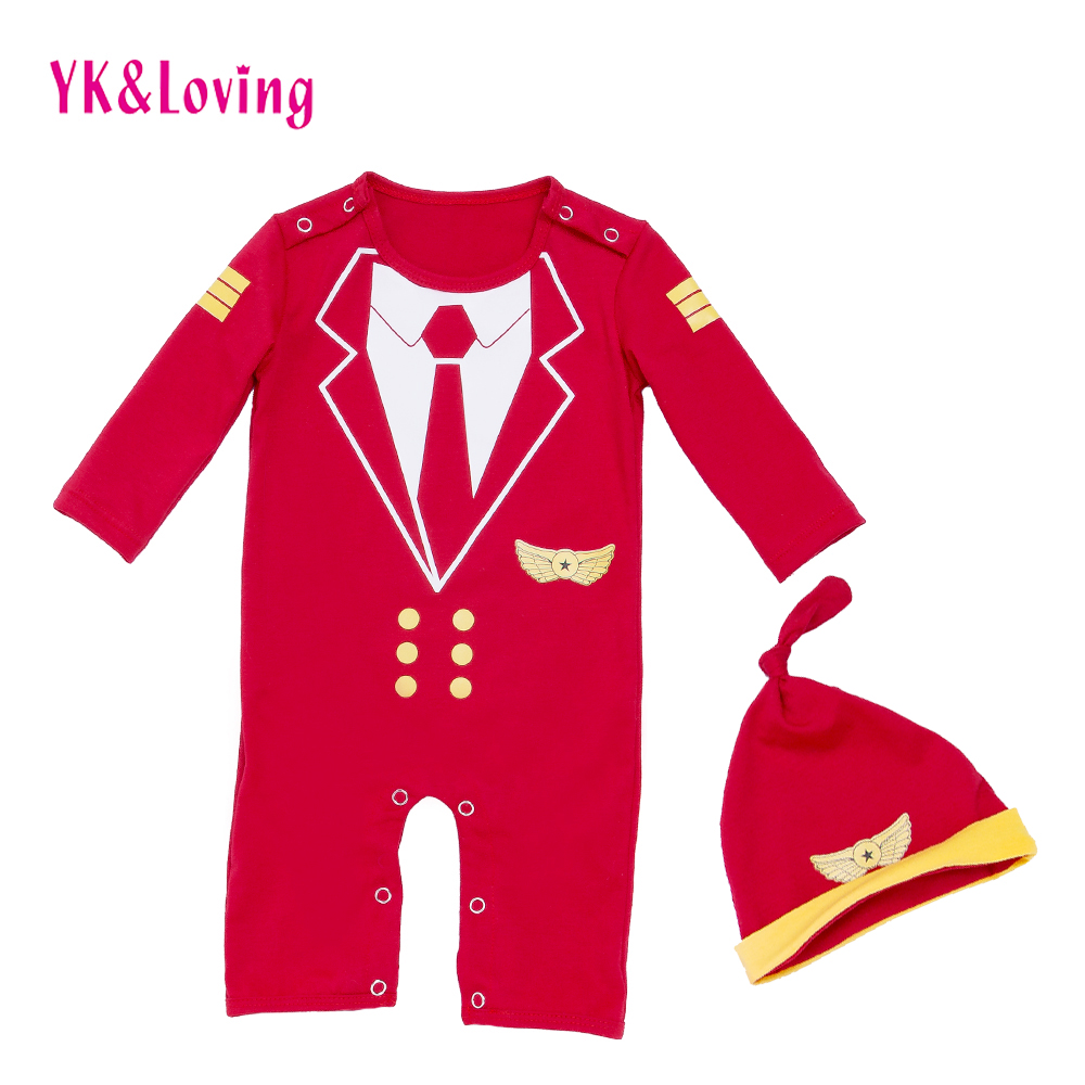 Newborn Baby Long Sleeve Rompers Red Navy Cartoon  Autumn/Winter Overalls Hat Cotton Boy Girl Jumpsuit Infant Clothes Sets baby girl rompers 100% cotton overalls autumn winter kids long sleeve jumpsuits newborn infantil boys clothes baby costume bebes