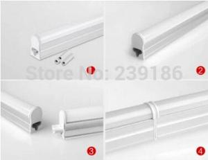 Image 5 - LED Bar Lights T5 LED Tube 1FT 2FT 5W10W14W20W AC220V Integrated Fluorescent Tube Wall Lamps Home Decoration 2835SMD LED Light