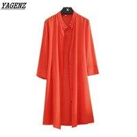 Yagenz kadınlar şifon güneş koruyucu ceket yaz rahat gevşek uzun şifon kimono hırka bluz üst güneşten clothing artı boyutu 5xl