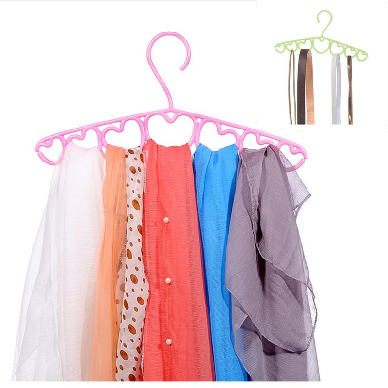 New multi-function 5 pcs Hangers Creative storage rack porous towel hanging Clothes pants Scarf clothes rack
