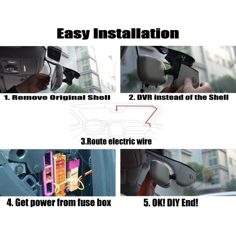 Car DVR wire Installation